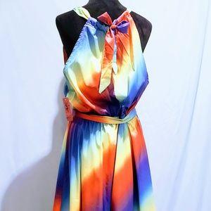 MediabyMedina Dresses - Halter neck Ombre Rainbow Maxi Dress🦄💋